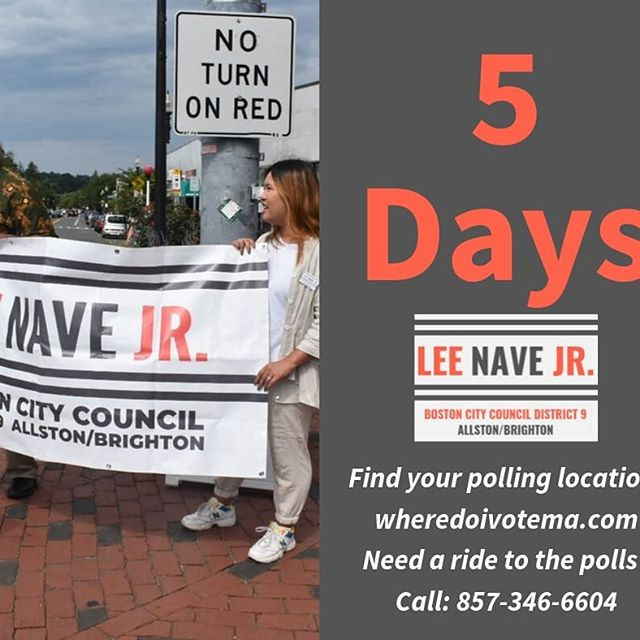 5 days until the big day! Vote for the #NaveWave Sept. 24th. #2 on the ballot.