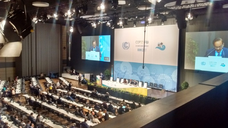 Dr Harsh Vardhan  (Minister of Environment, India) discussing the goals of India for 2030 for combating climate change