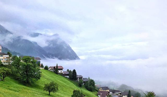 If going out was about good weather, half of the world would be still unexplored. . . . . . . #getoutstayout #clouds #hills #peekaboo #valley #liechtenstein #hikingadventures #girlswhohike #outdoors