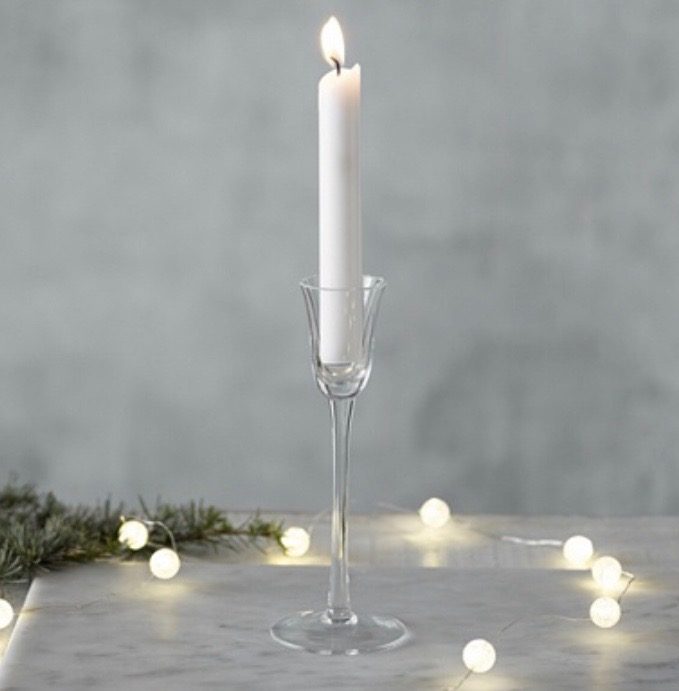 Glass Candlestick Holder    15 available