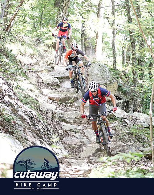 """JUNIOR TRAVEL - JULY 7-13, 2019 (OVERNIGHT CAMP)AGES: 13-18EXPERIENCE: AdvancedOften referred to by counselors as a mountain bike """"lifestyle"""" camp, the Junior Travel Camp takes advantage of everything that makes fat-tire riding so great in the state of Virginia."""
