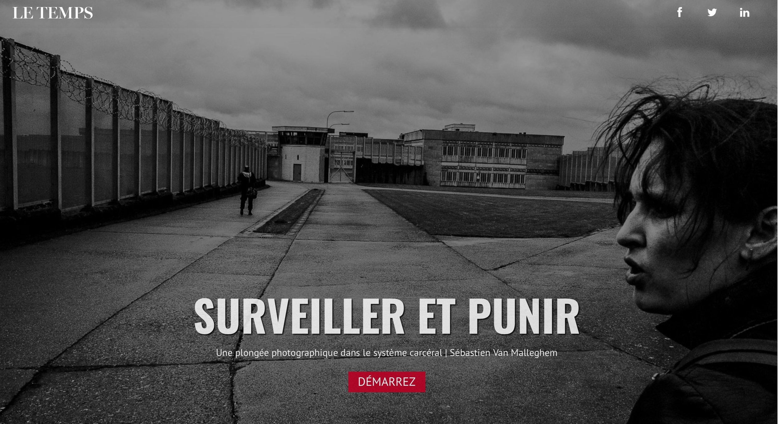 Prisons WebDOC for Le Temps