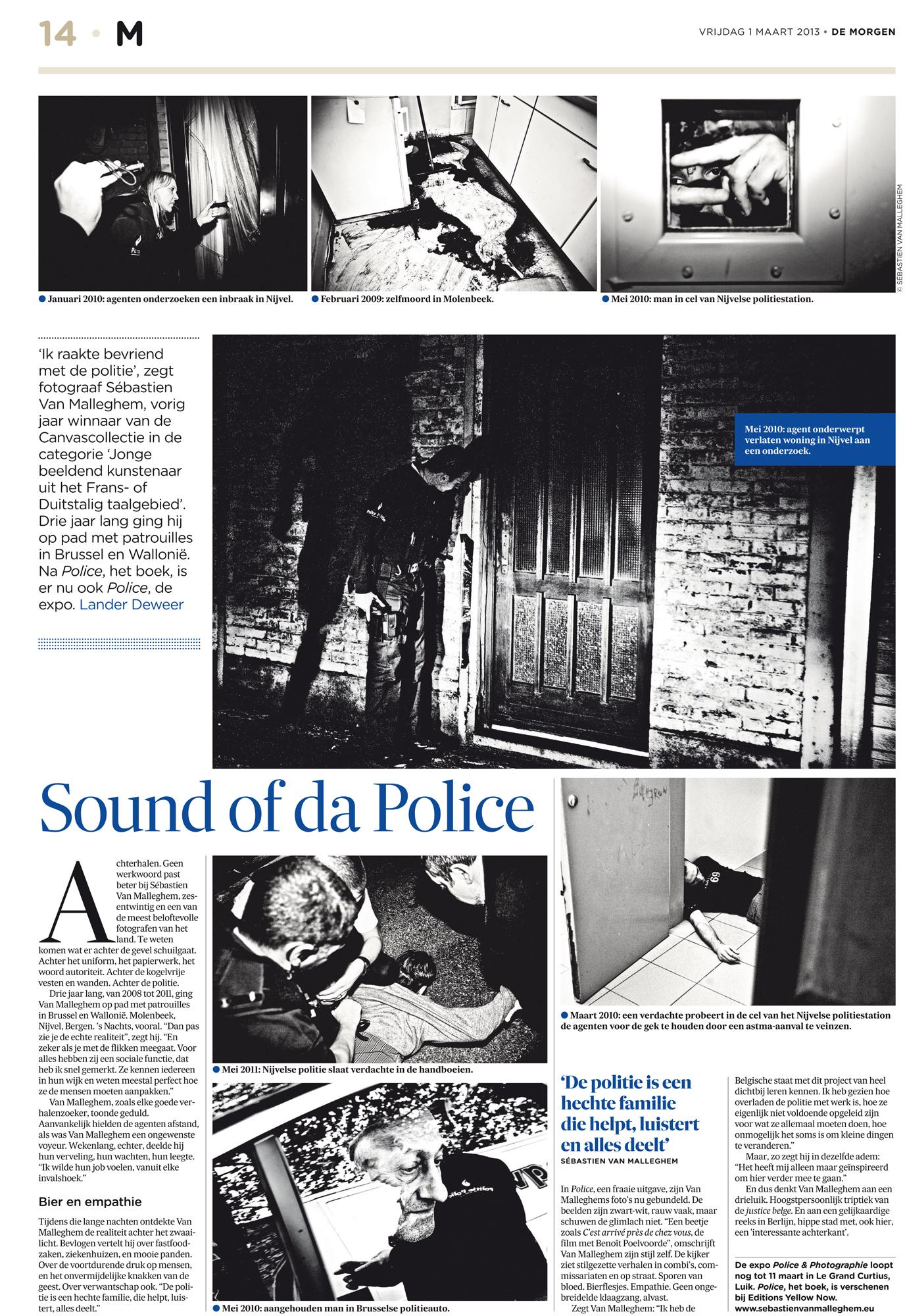 Police for De Morgen