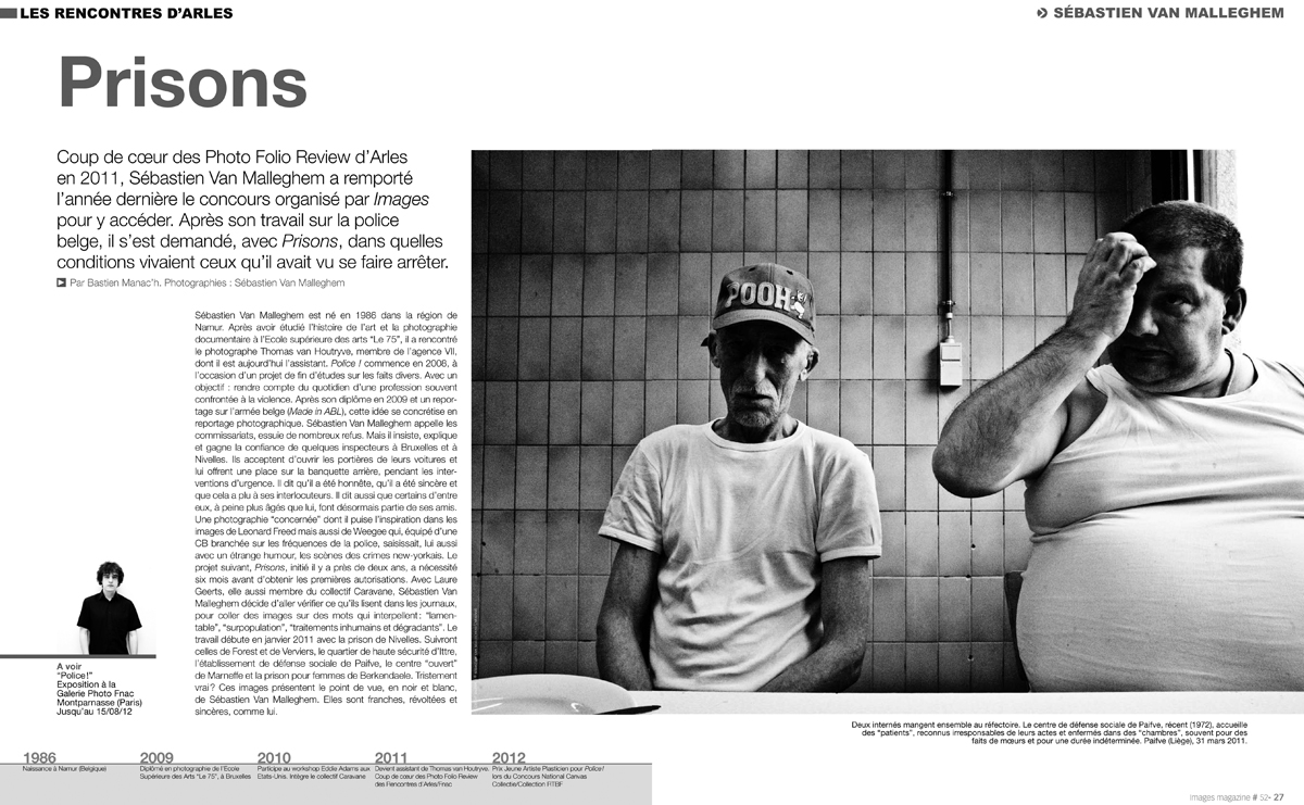 PRISONS for image Magazine France