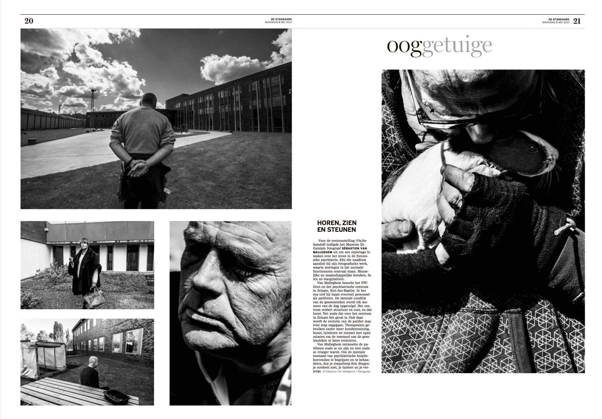 Asylum double page for De Standaard