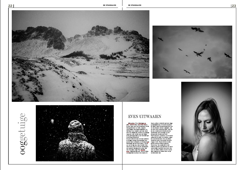 Nordic Noir double page for De Standaard