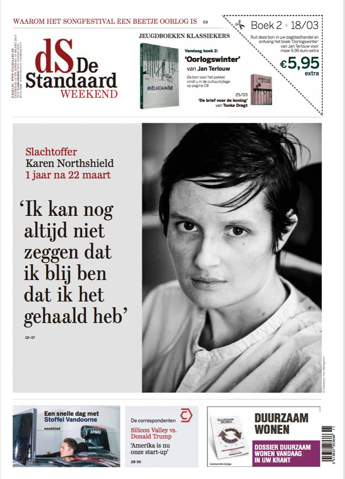 Karen Northshield assignment and cover for De Standaard