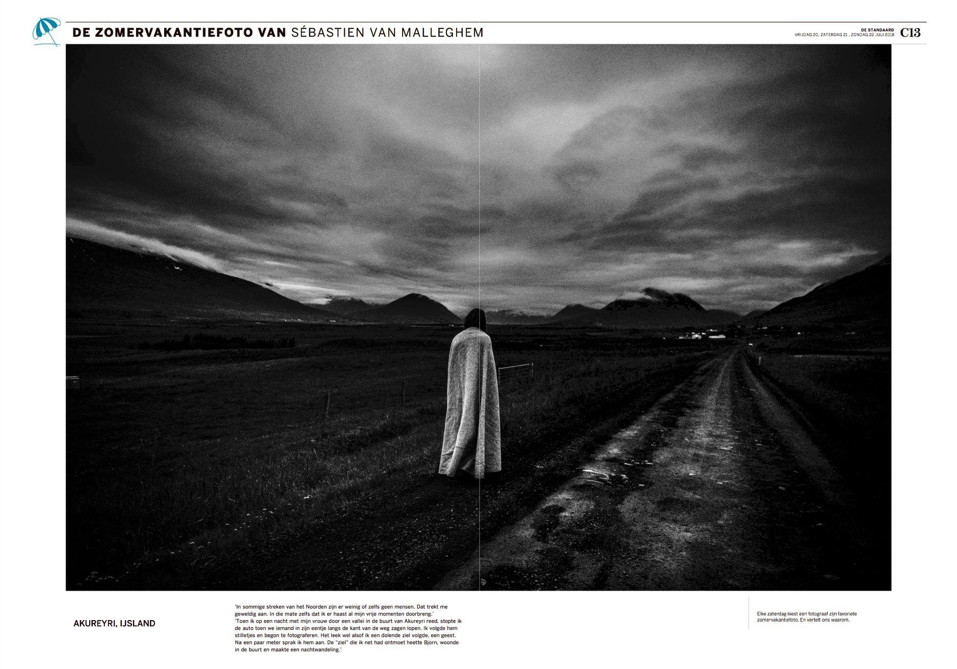 Iceland 2018 double page for De Standaard