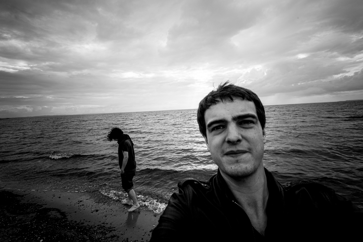 Me & Pierre (back in 2012) taking a road break on the shore in Denmark.  A quiet, peaceful country almost as flat as Belgium. I'll get back there 3 years later in 2015.