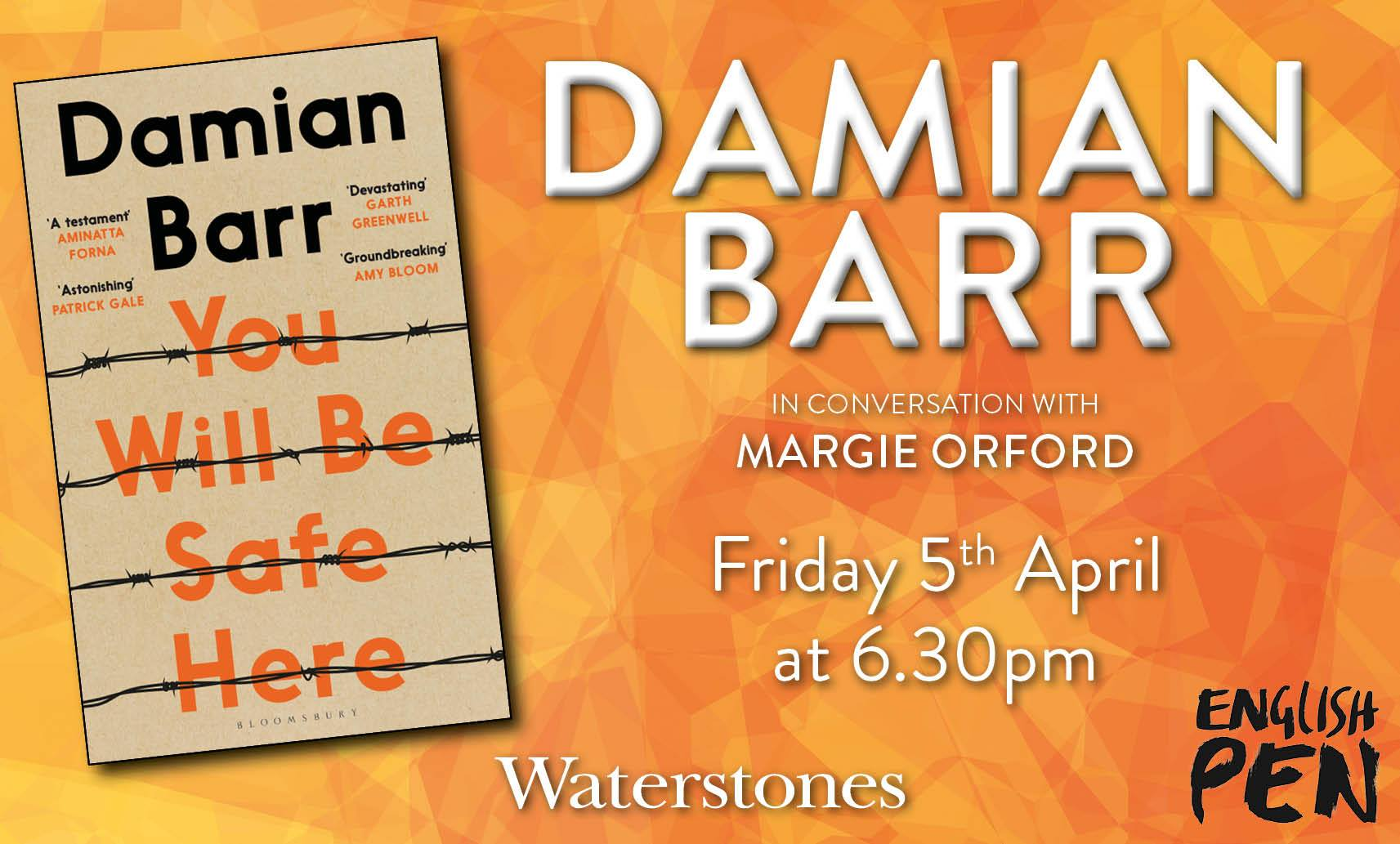 Damian Barr inn conversation with Margie Orford