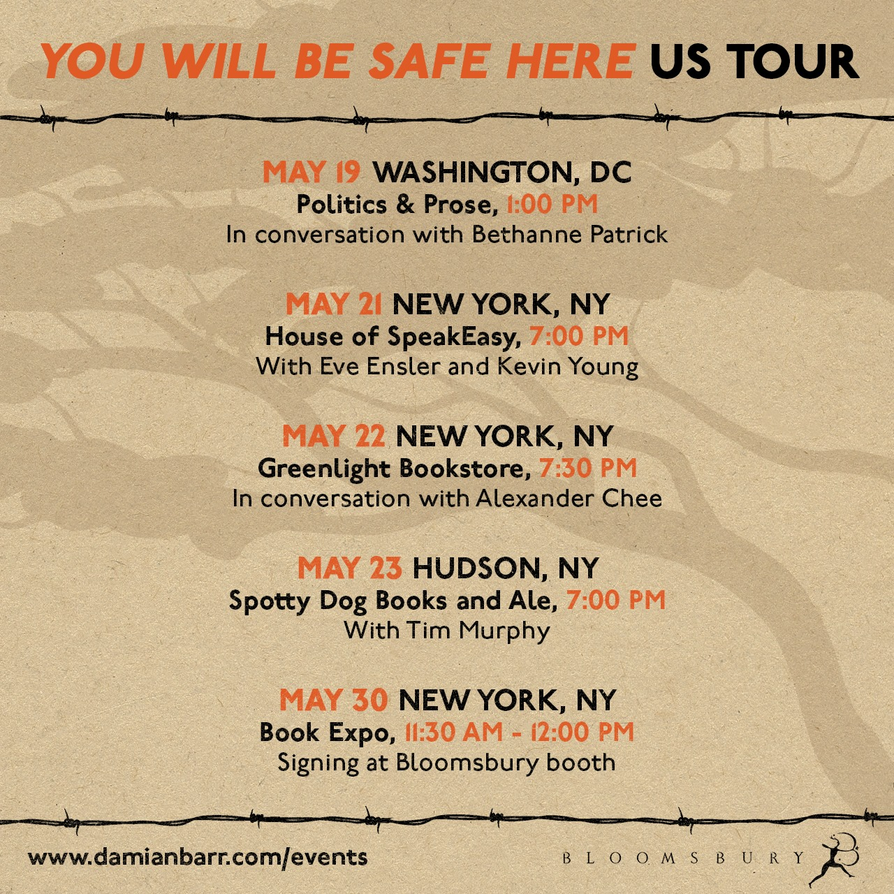 You Will Be Safe Here USA tour