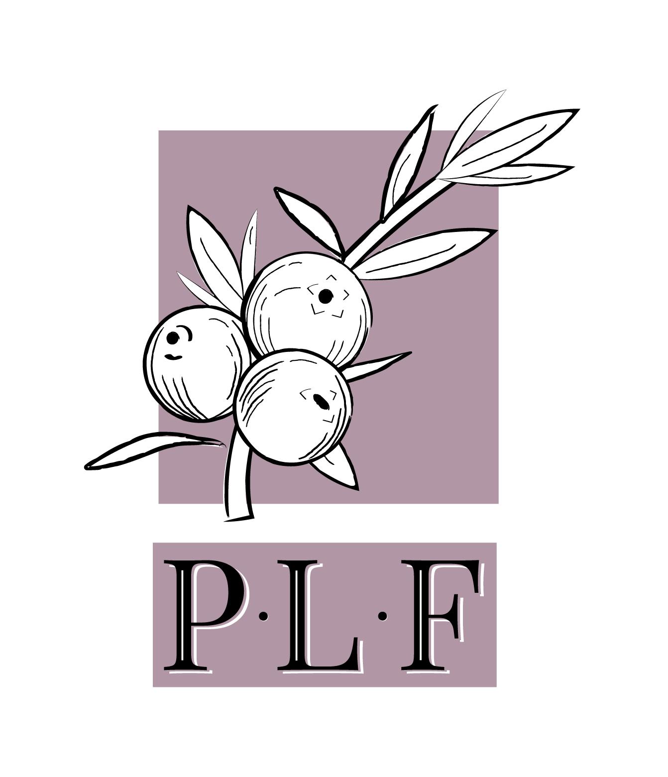 Logo concept 2 - purple with illustration