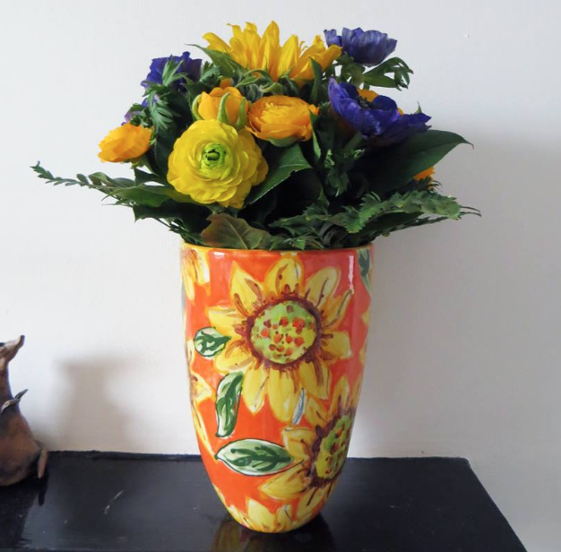 21st birthday present vase sunflowers the pottery experience.png