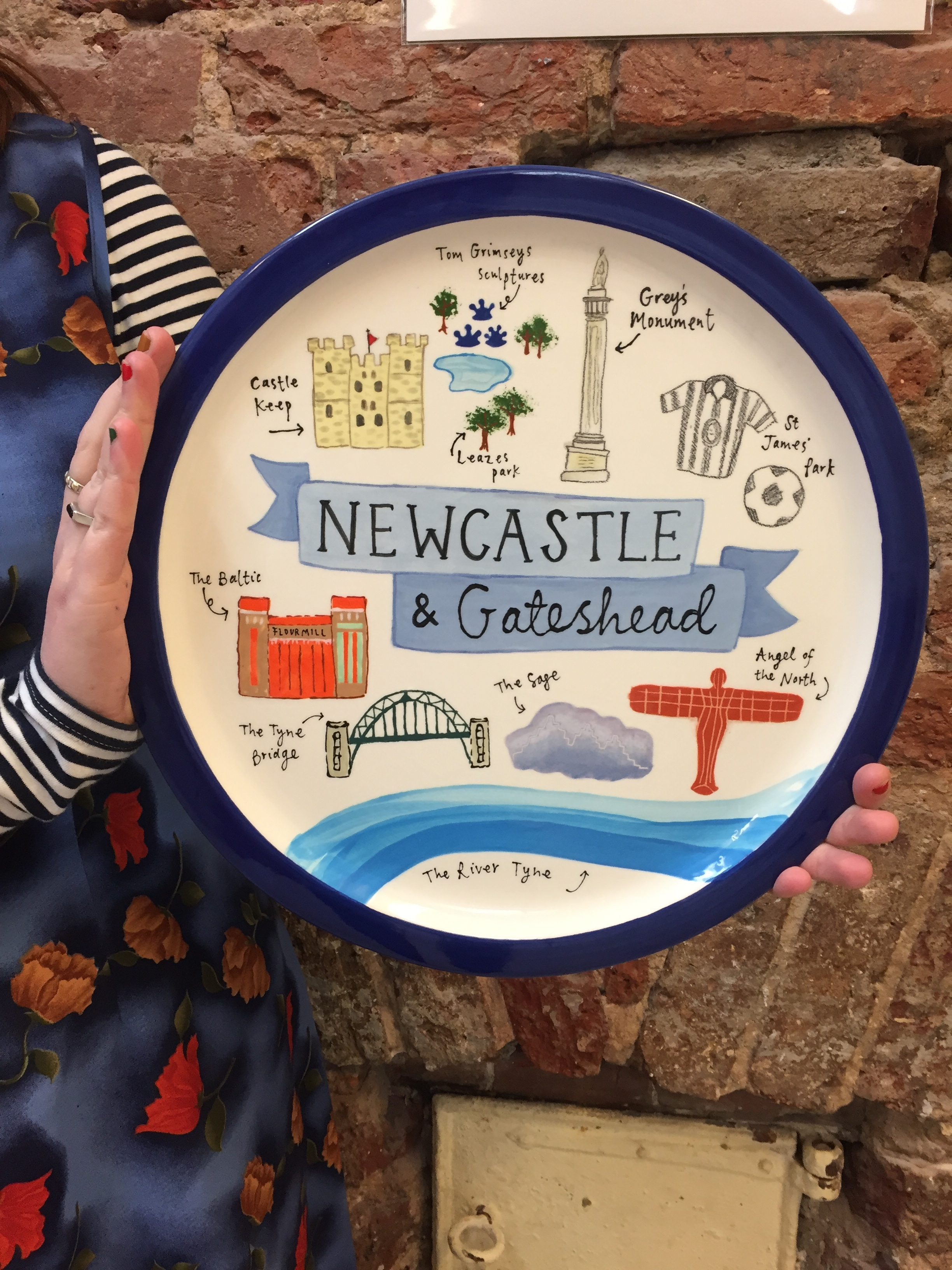 Newcastle and gateshead pottery painting plate ideas and examples