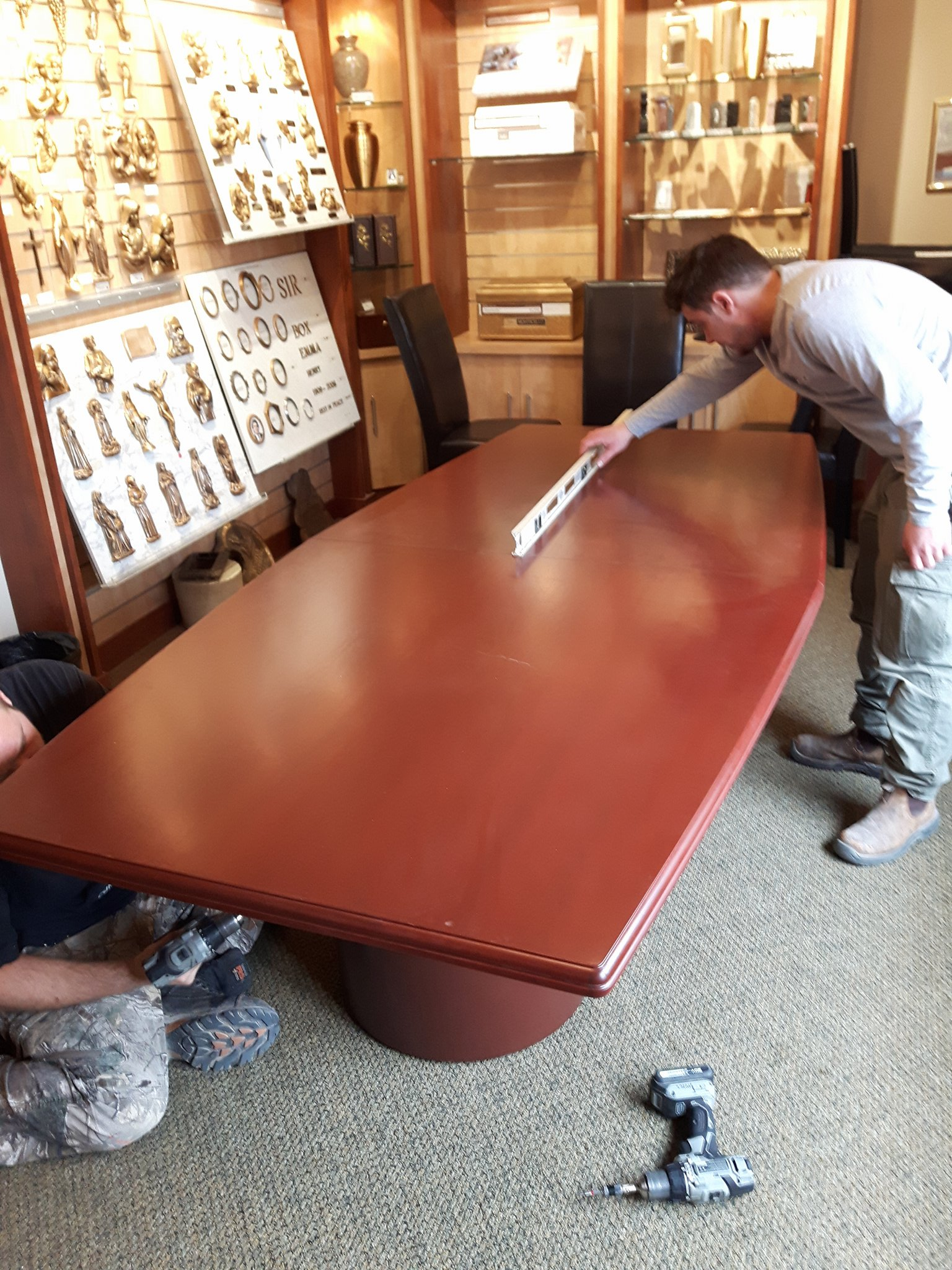 TUP Meadowvale Cemetery AFTER Mount Pleasant Group Meeting Room table cut and refurb.jpg