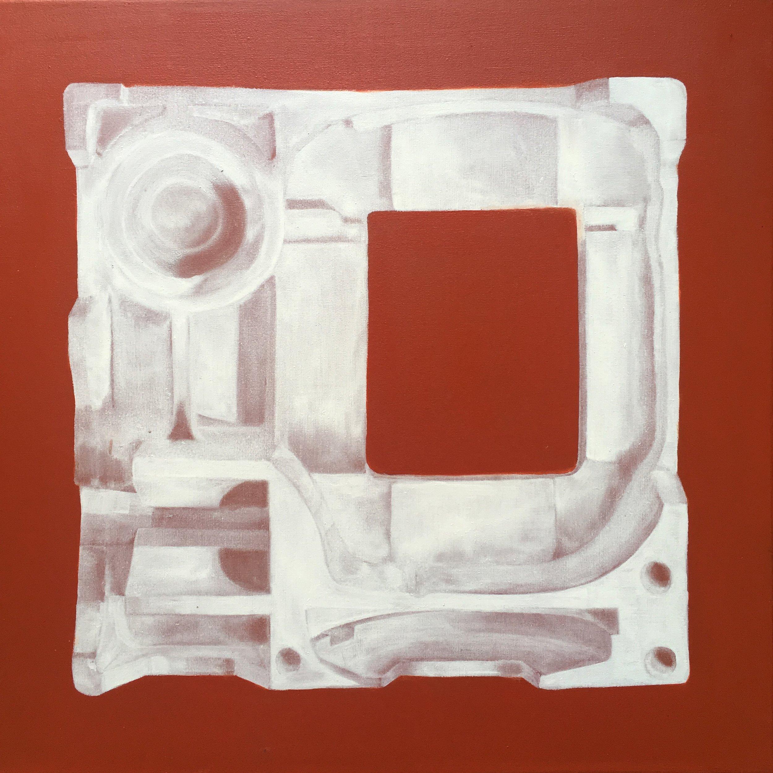 L'absence,  50 x 50 cm, 2018