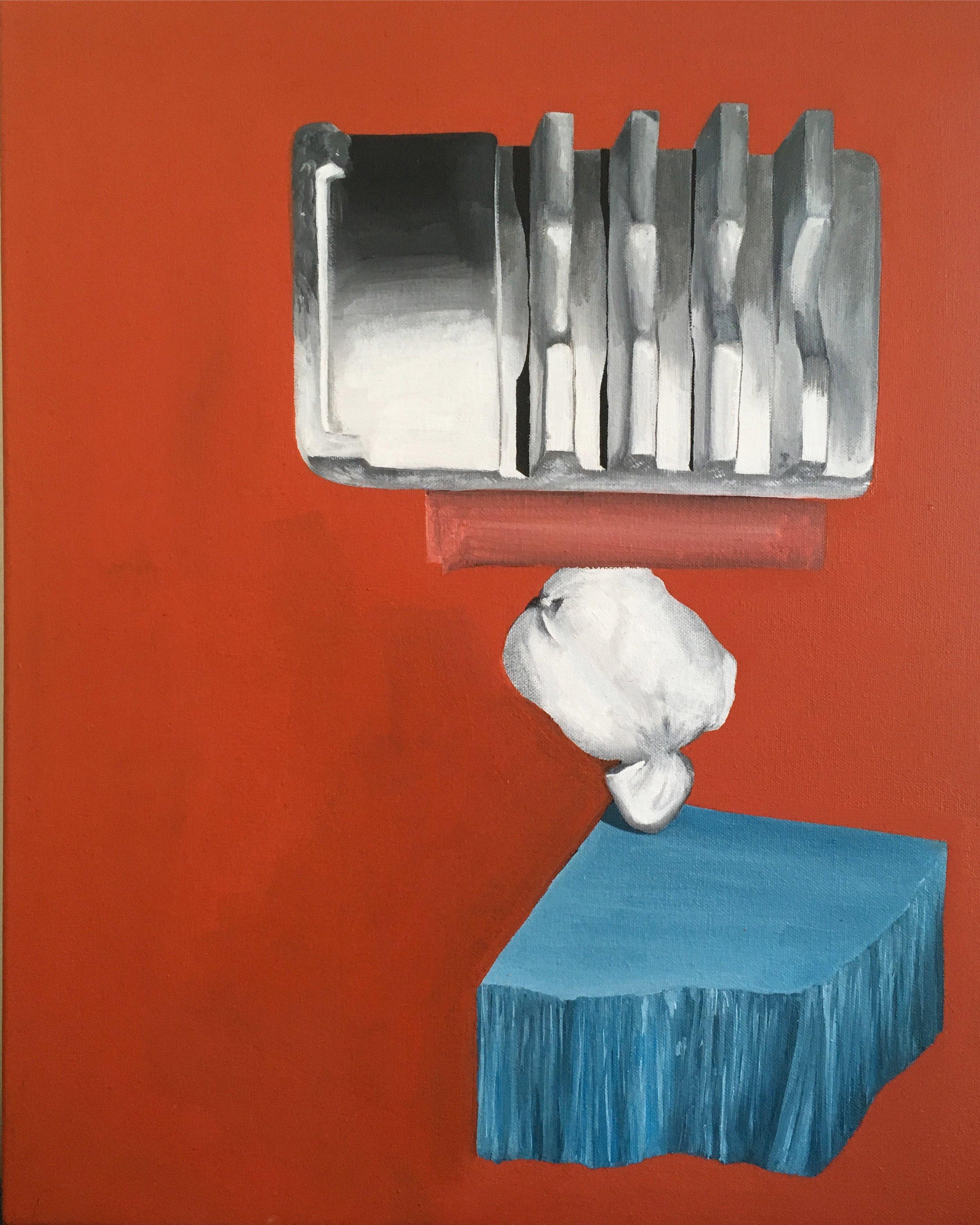 L'Effondrement , 40 x 50 cm, 2019