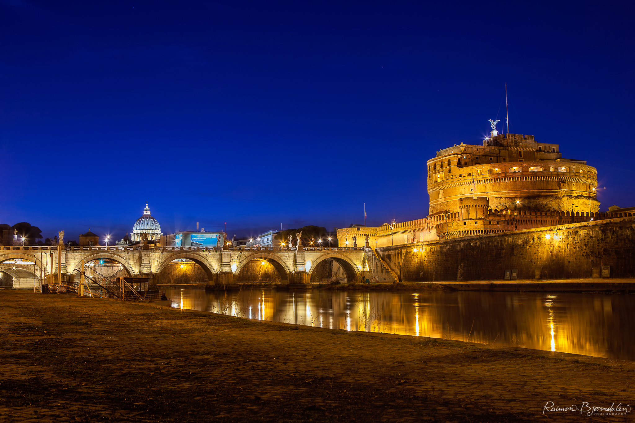 Castle St. Angelo in Rome, Italy.