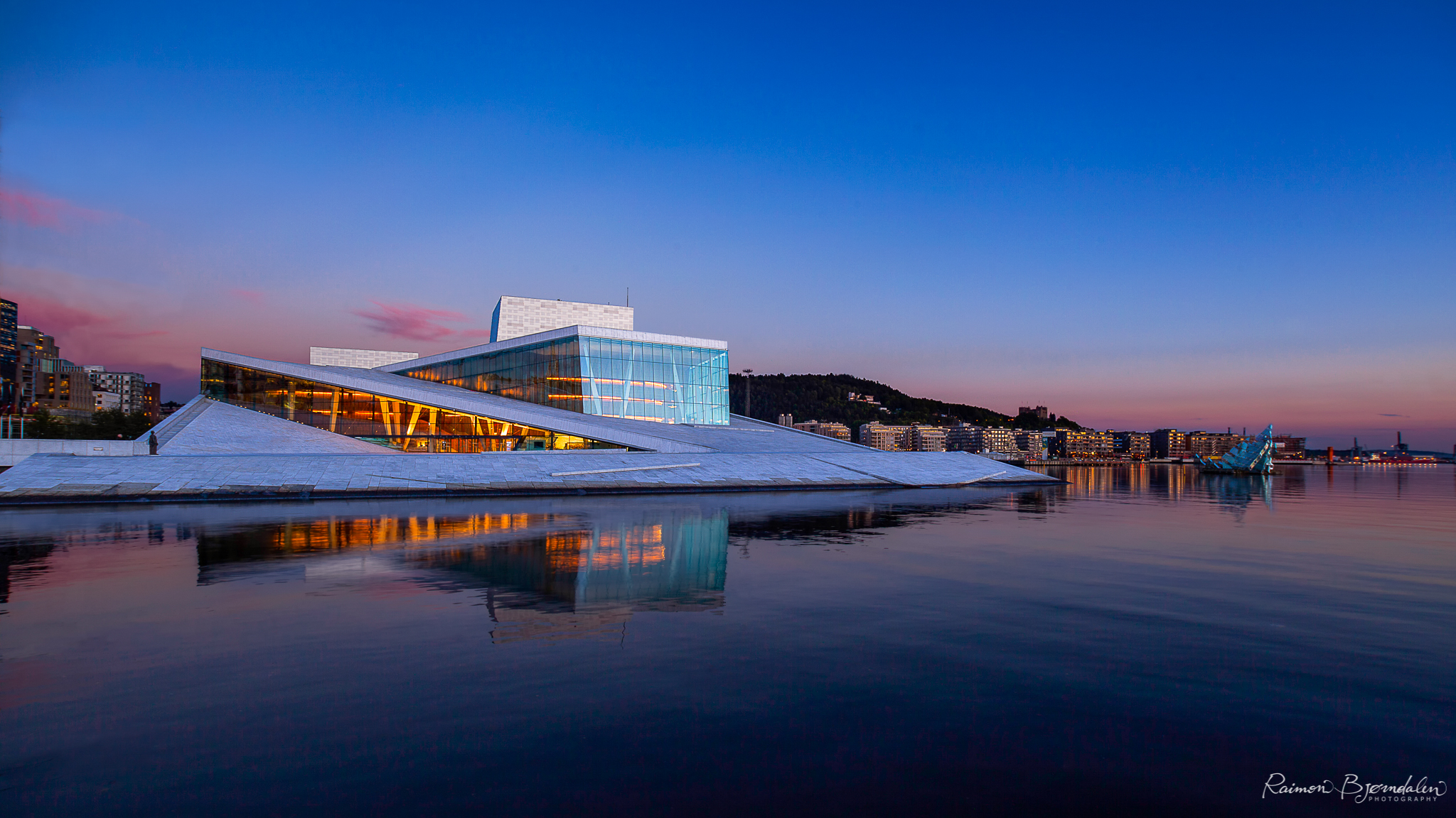 The Opera House in Oslo, Norway.