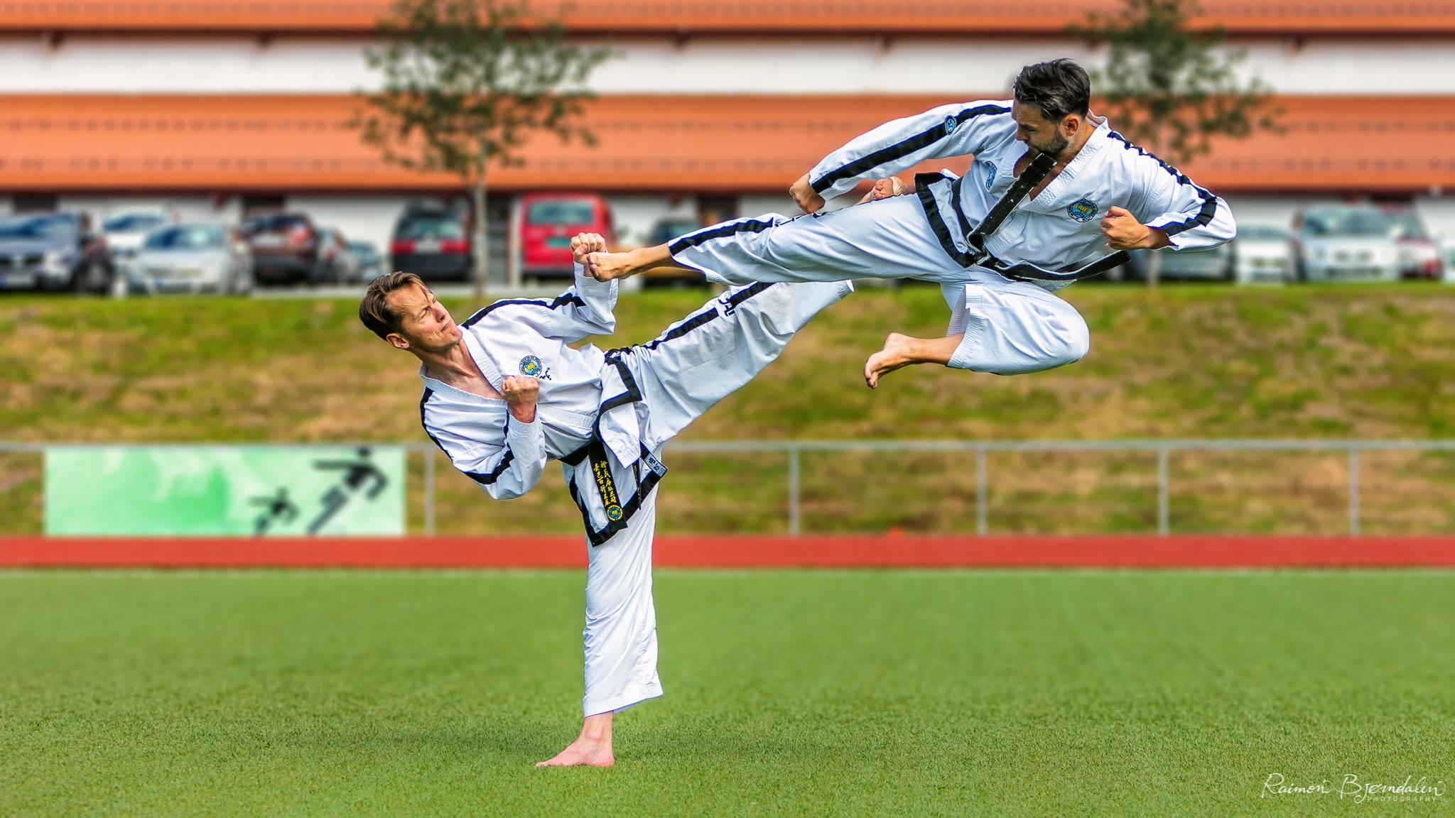 ITF Kickers during the National Taekwon-do Norway summer camp 2017.