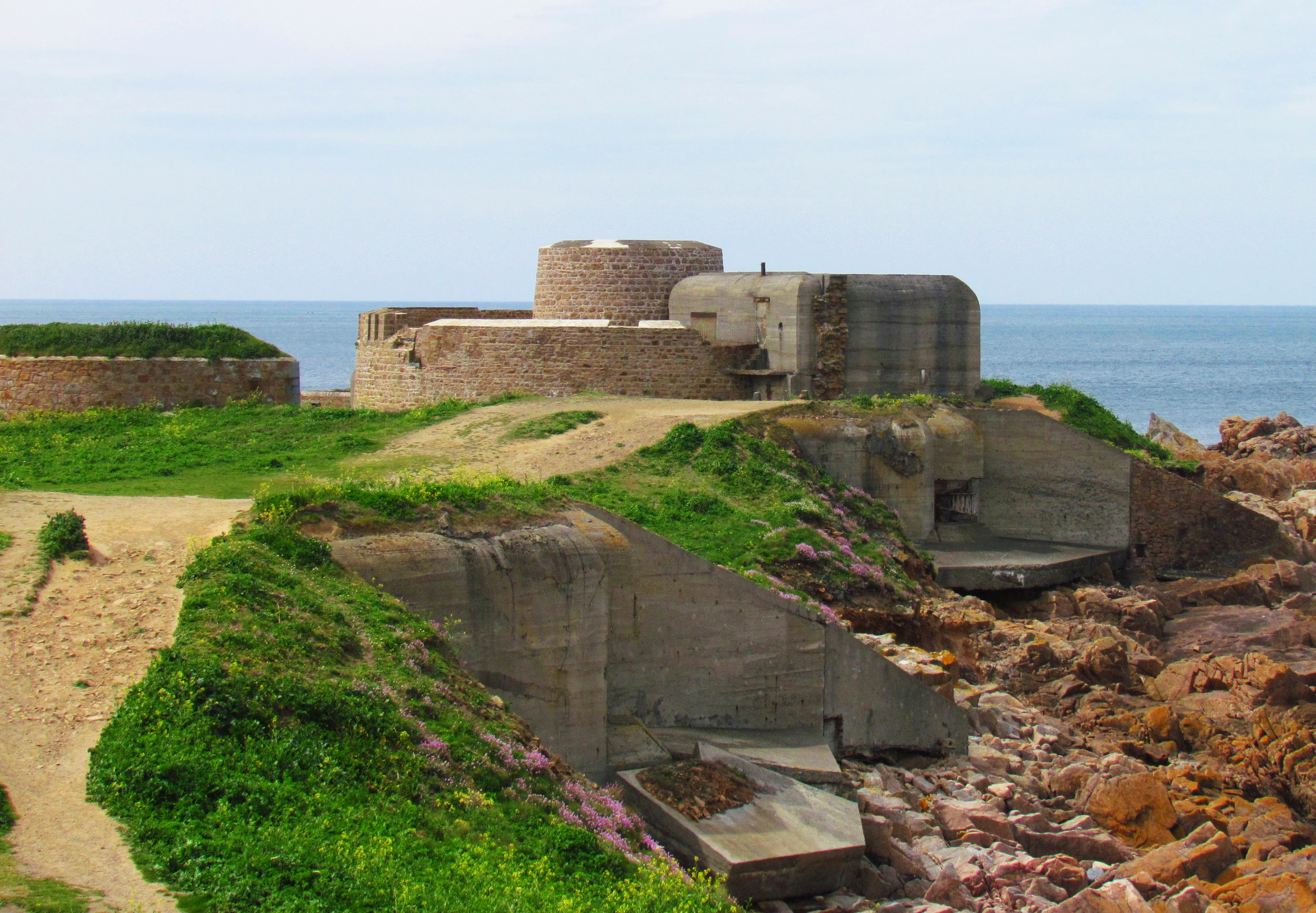 Fort Hommet à Guernesey, Îles anglo-normandes