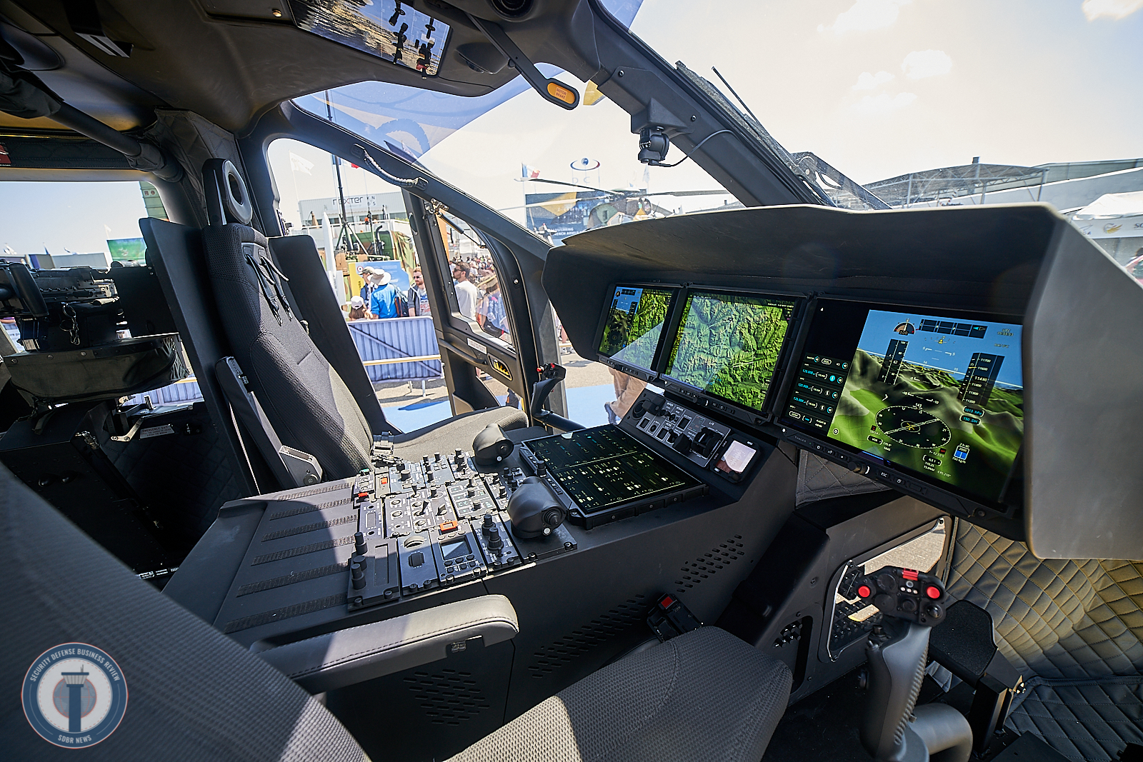 Cockpit FlytX by Thales inside NG Helicopter H160M