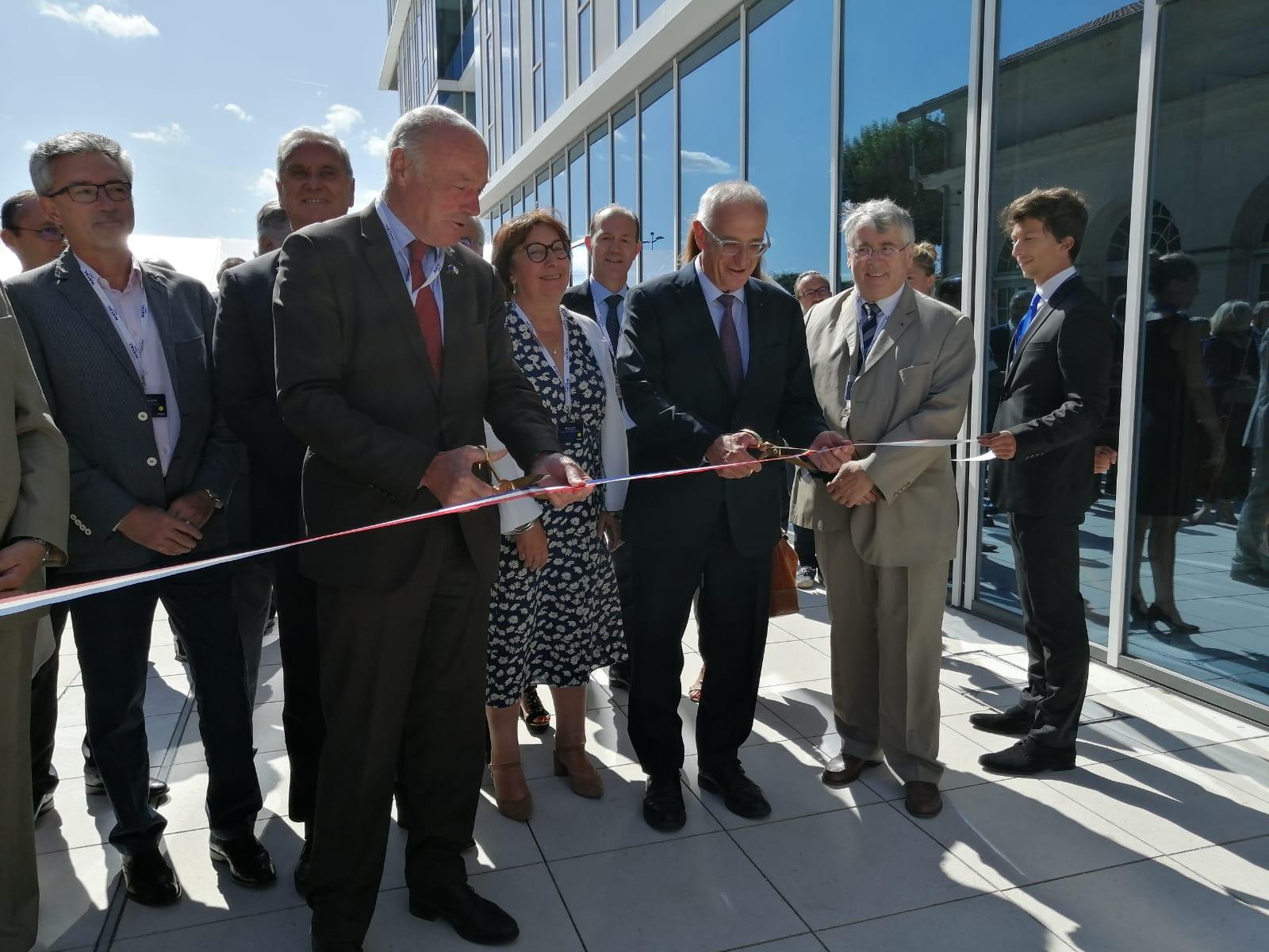Hervé Guillou et Alain Rousset inaugurent l'Innov'Factory de Naval Group