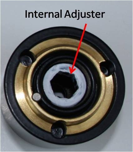 Internal adjuster (other parts removed for clarity) - do not remove other parts