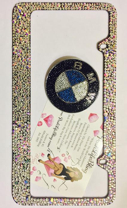 crystal couture bling bling license plate border poshlifebling.jpeg