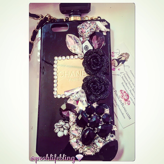 black chanel perfume bottle case.JPG