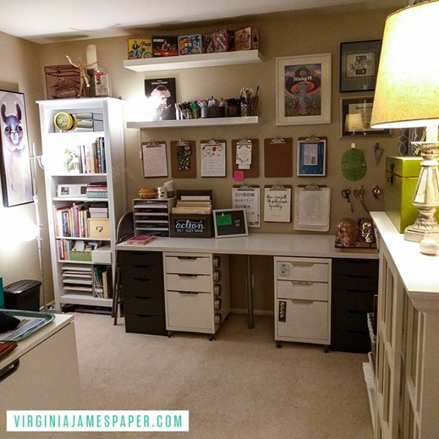 A few weeks ago, I organized my husband's closet, which in turn made me want to reorganize and clean up my #homeoffice -- it's finally in a state that can remain #organized but #dynamic as I work through various creative projects #latergram #creativeprocess #howiwork #allthecraftsupplies I'll be blogging about how I organize myself and my space soon. You can check out other organization tips on my blog. Link in profile.