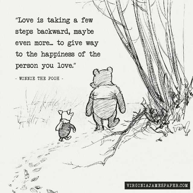Today is Winnie the Pooh Day! What's your favorite pooh quote? There are so many to choose from. This one touched a lot of points for me, as many friends are navigating relationship changes. So much evolution occurs within us, and with a partner, that growth can make or break a relationship. There's nothing wrong with that, but sometimes we have to remember that our person may need time to catch up. At least, that's what this says to me. #winniethepooh #quoteable #love #compromise . . . .  In other news, I quietly reopened my website with a full redesign that I am so in love with, and I've started blogging more about organization and living an intentional life, so you'll see more of that on here too. #organizemylife #websitelaunch #lowkeylaucnh