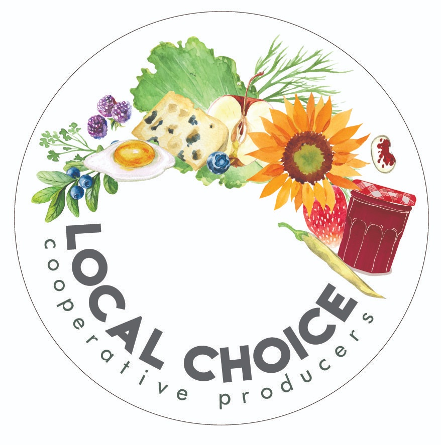 LOCAL CHOICE - LOGOA group of small organic farms working cooperatively to provide a variety of sustainably raised farm products to facilitate local, seasonal purchasing and develop meaningful relationships between farmers and consumers.