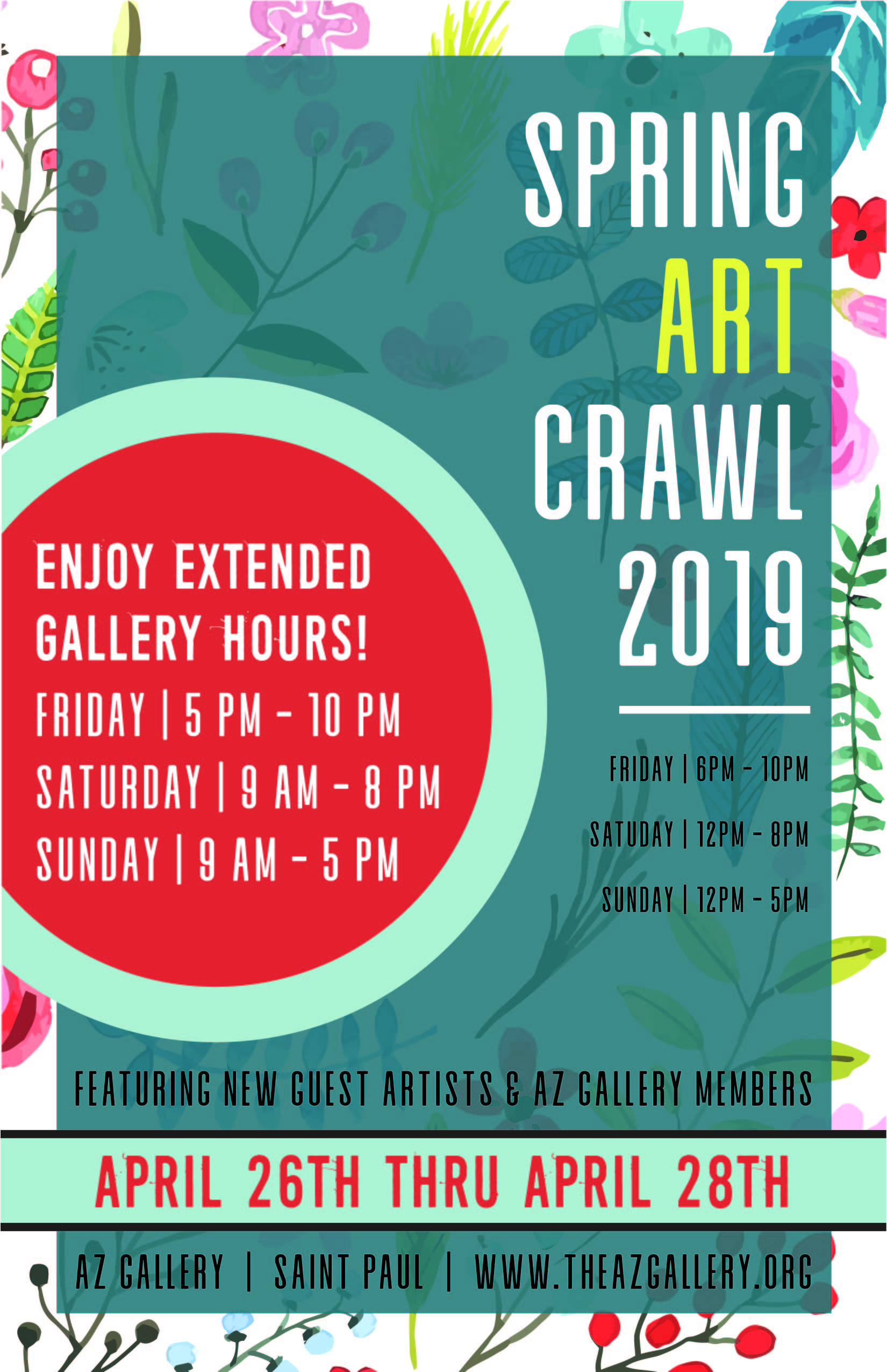 SAINT PAUL ART CRAWL - POSTER DESIGN | DRAFT CONTENTAZ Gallery participates in both the Spring & Fall Art Crawl featuring local guest artists as well as its members.