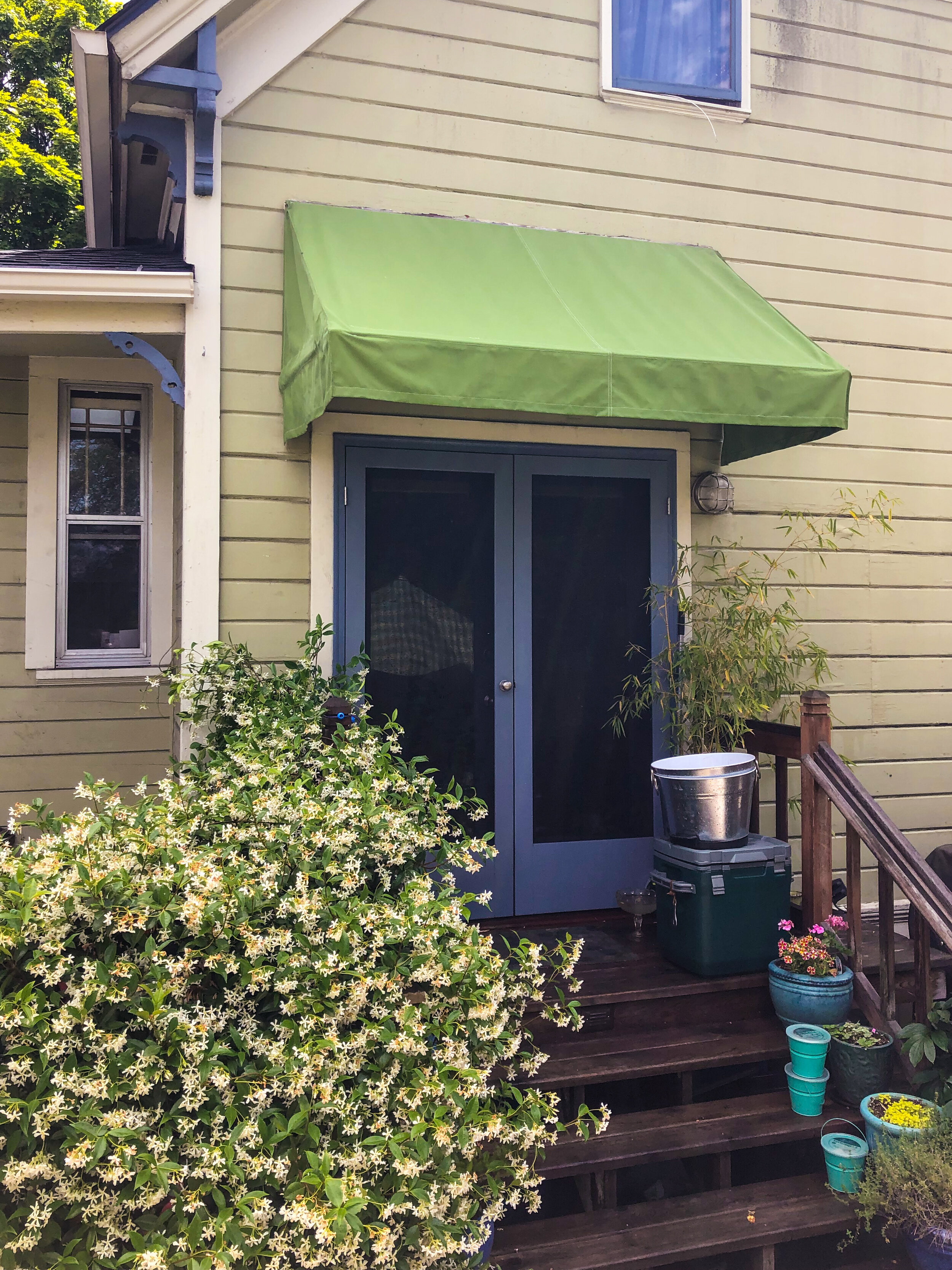 Staycation Home Improvement Ideas: Stationary Awnings ...