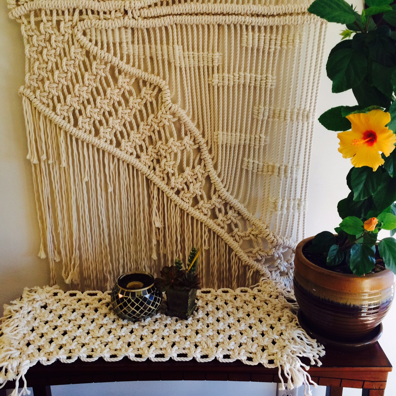 Macrame Table Runner with Landscape view.jpg