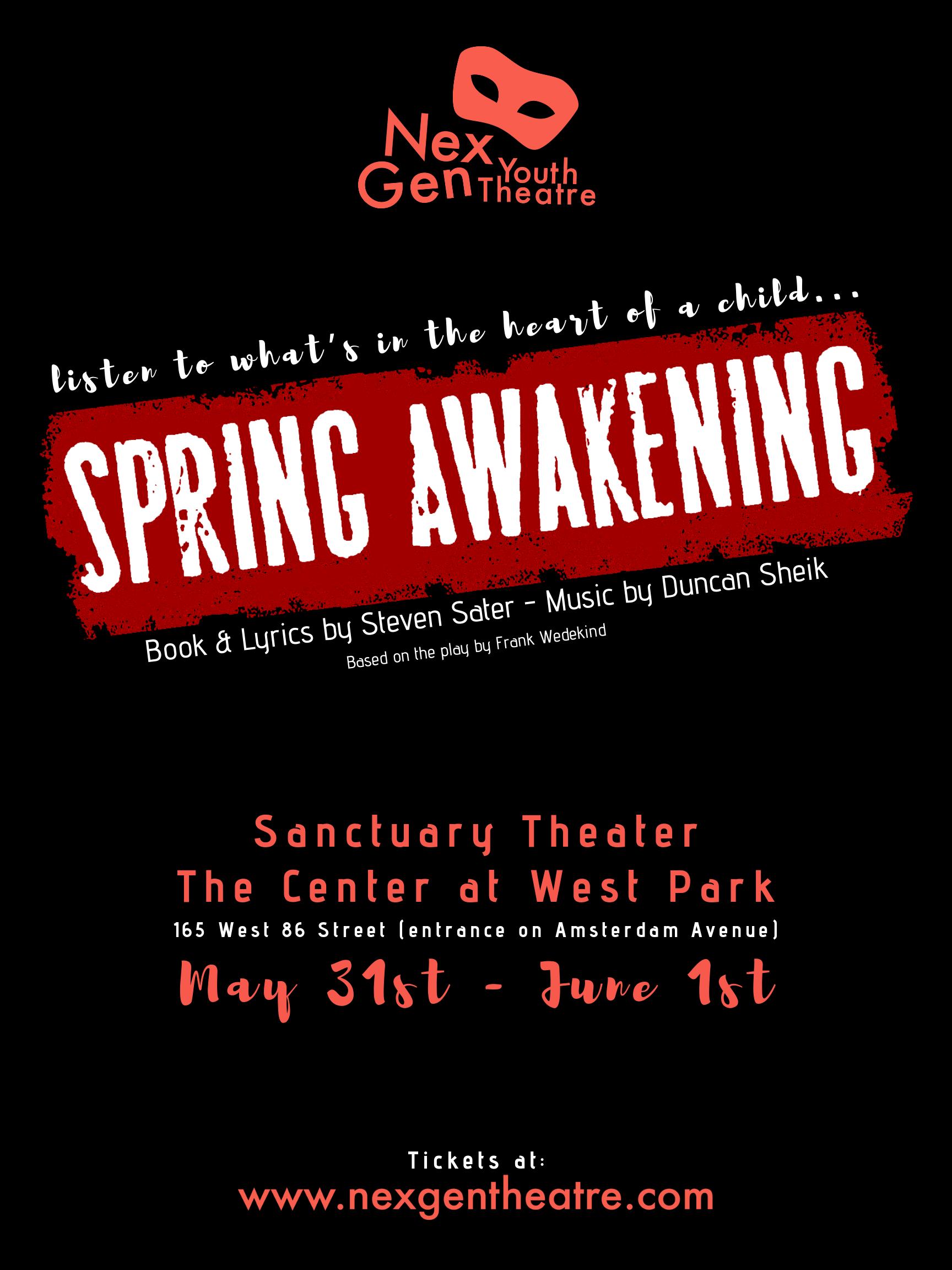 Spring Awakening - NexGen Youth Theatre - Poster.png