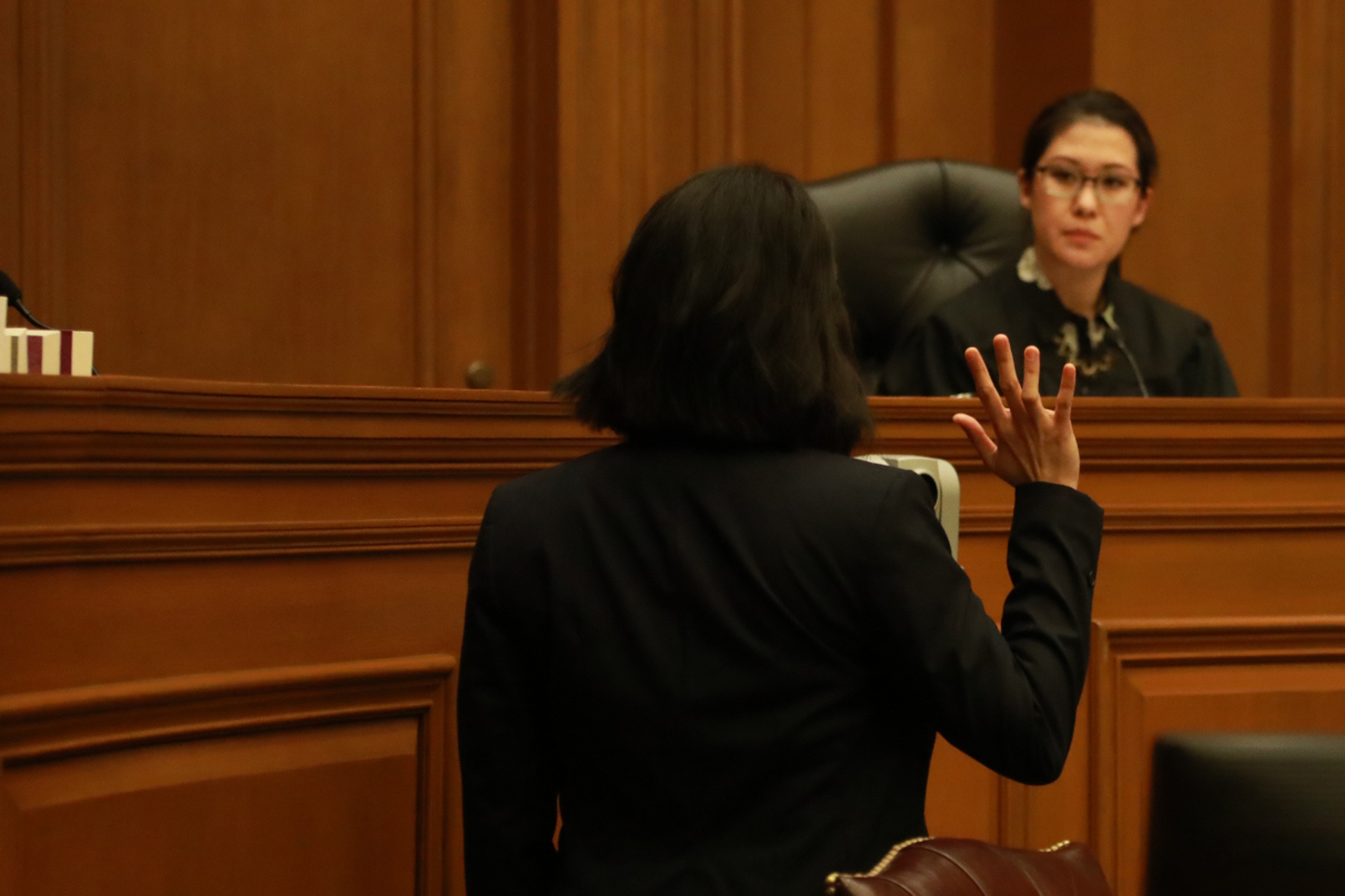 Courtroom 3_Photo by Miguel Amortegui_Pictured Kristin Villanueva and Ruthie Ann Miles.jpeg