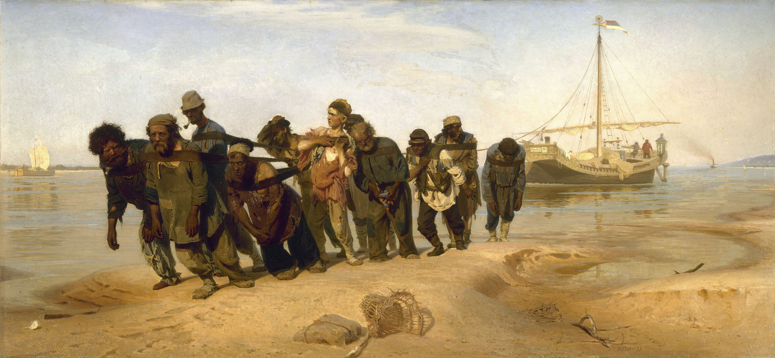 "Fantastic painting by Ilya Repin - ""Barge Haulers on the Volga"""