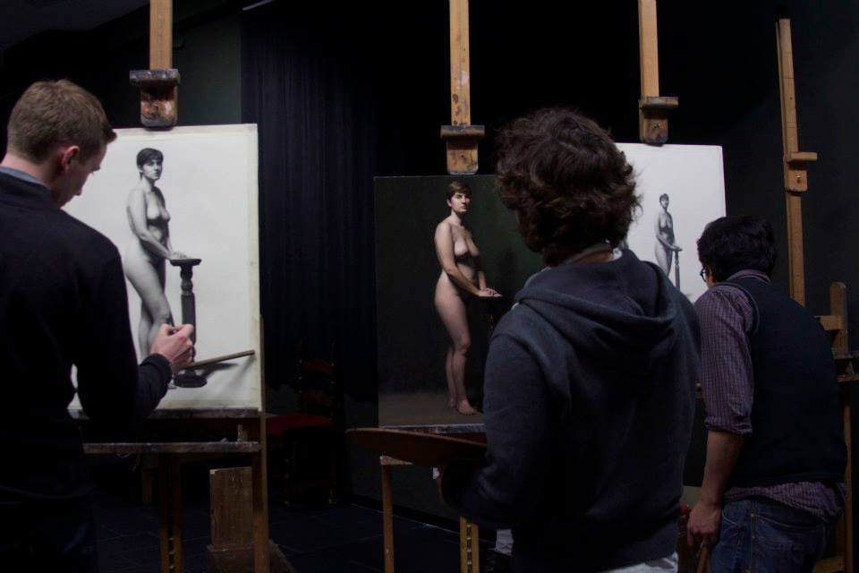 Me(in the middle) during a live model painting class, with classmates Jeff(left) and Alvin(right). Good Times! :)