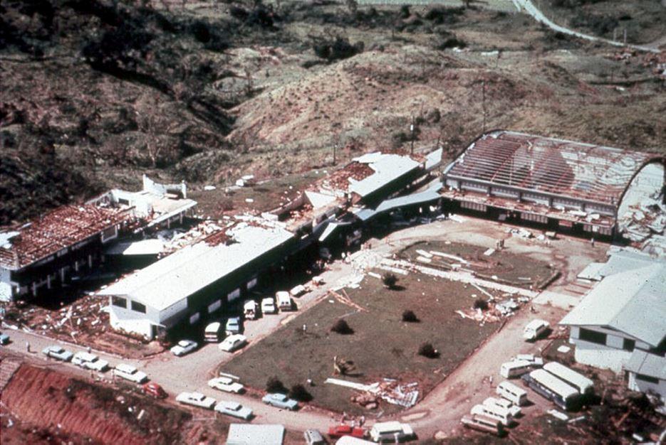 Faith Academy, following the destruction of Typhoon Yoling
