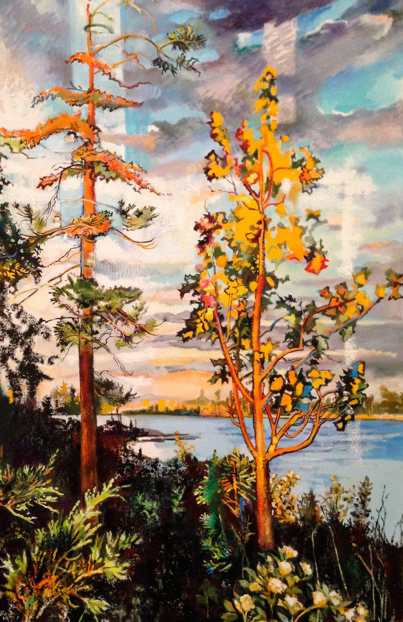 Two Trees, Late Light, Georgian Bay, Ontario, Canada