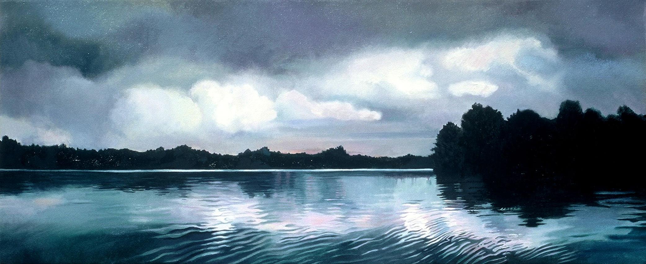 Reidsville Lake, Morning, 23.5 x 54.5 inches (framed), oil, 2005-2006