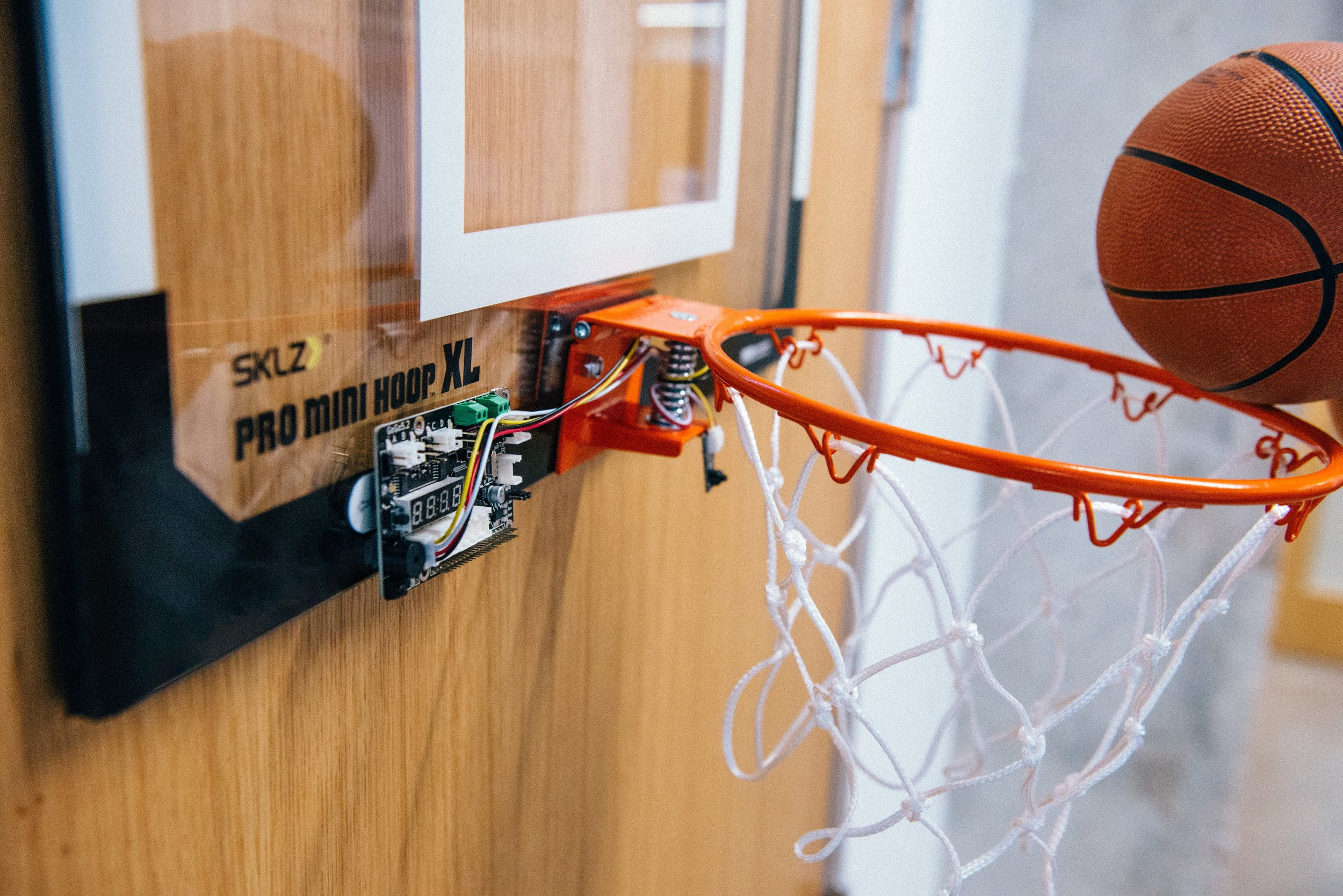 Basketball Held to a hoop with a  gogo board