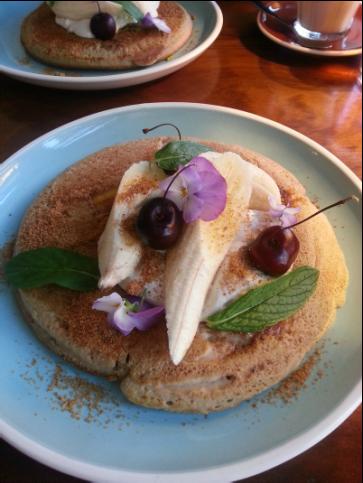 Banana Buckwheat Pancakes - Little Bird Cafe Northbridge