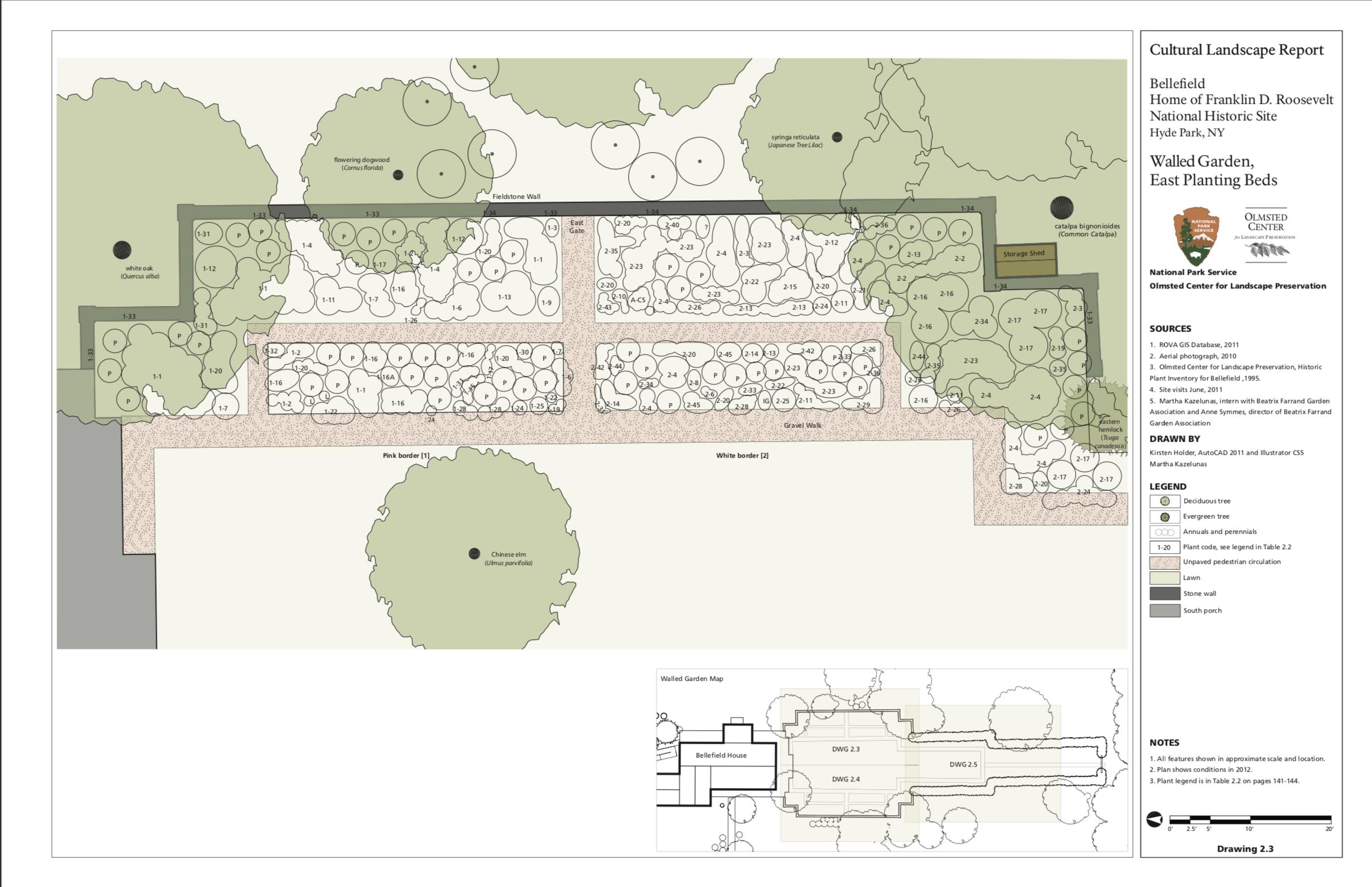 Planting Plans Beatrix Farrand Garden Association