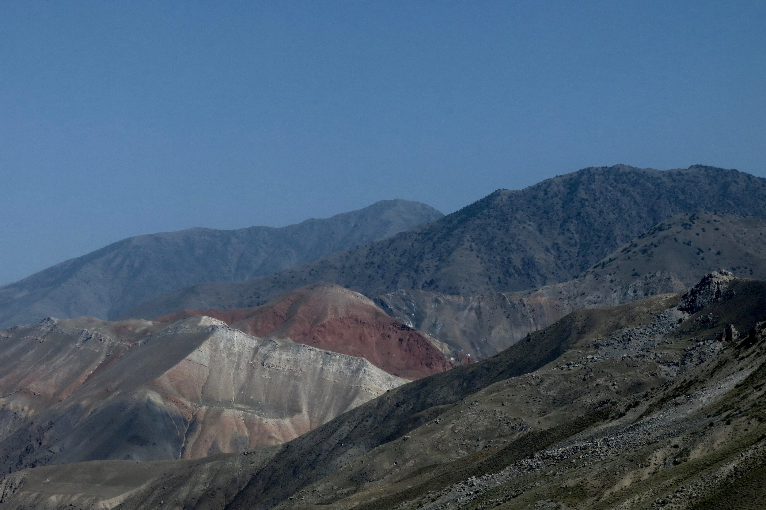 The Fan Mountains north of Dushanbe