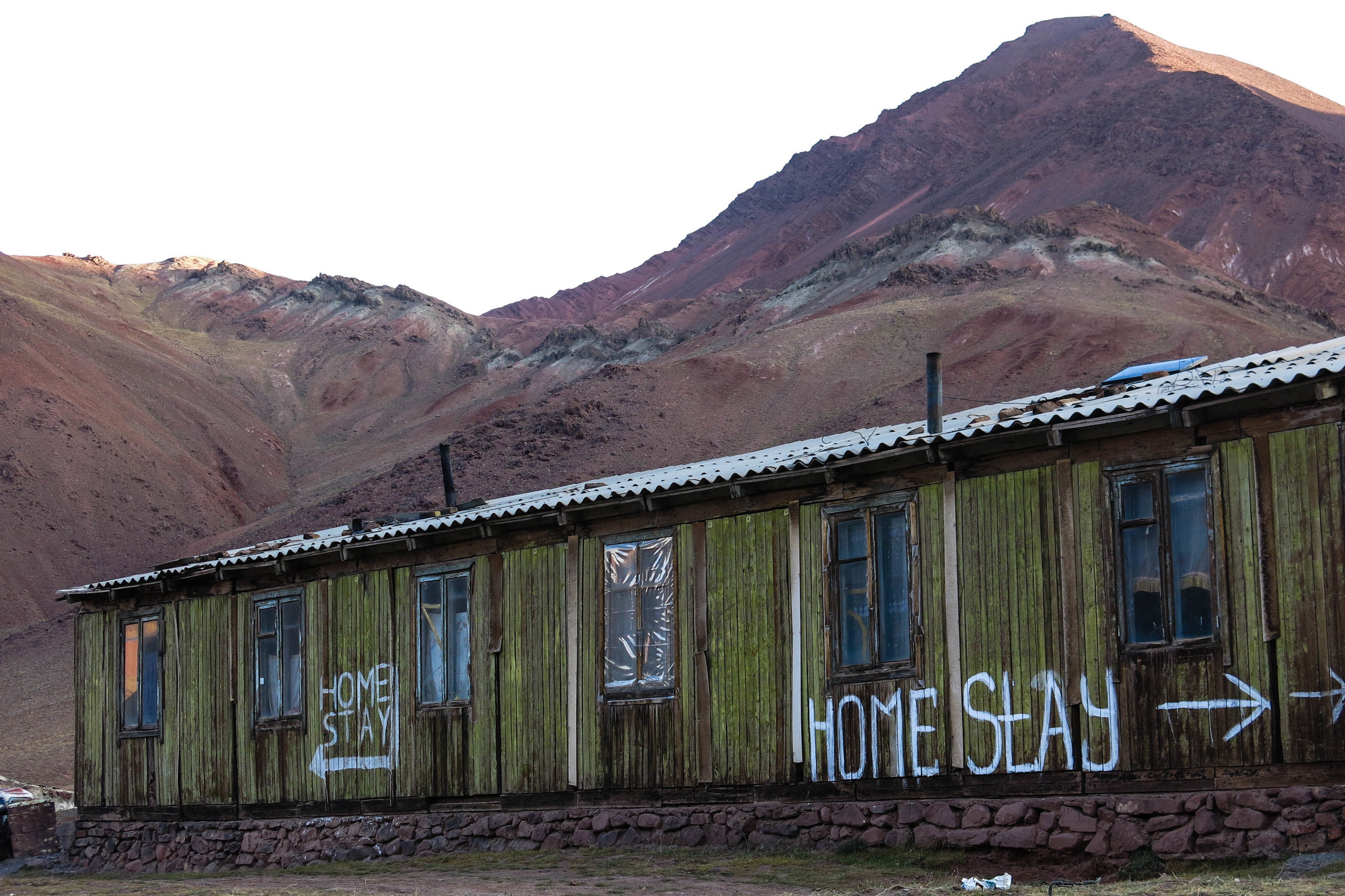 We wondered at how a couple barely beyond their teens ended up living in this cold valley in the no man's land between Kyrgyzstan and Tajikistan. PHOTO: ISOBEL EWING