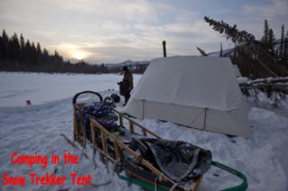 Snow Trekker Tent, remote wilderness Alaska, Yukon