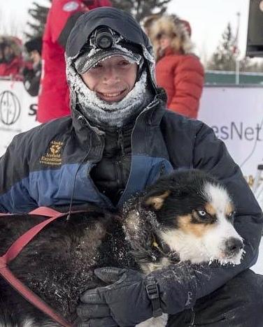 Matt Hall and Keeper Yukon Quest Dog Sled Race